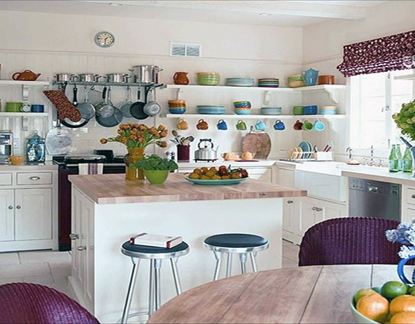 Open Kitchen Shelving design