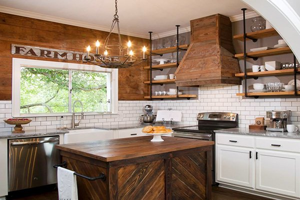Open Kitchen Shelving designs