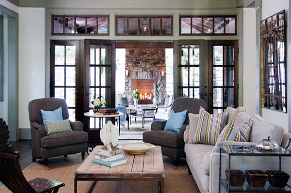 Square Living Room Decor