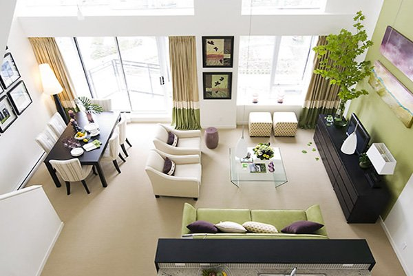 Square Living Room Decoration