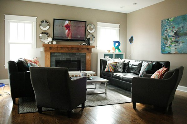 Square Living Room decorating