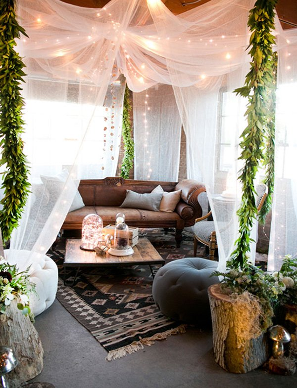 bohemian stylish lounge design