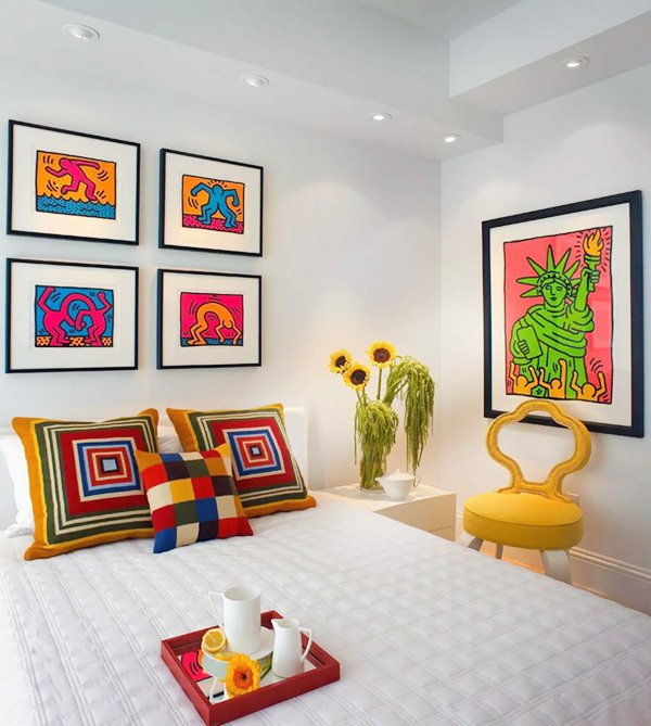 bright colorful bedroom design