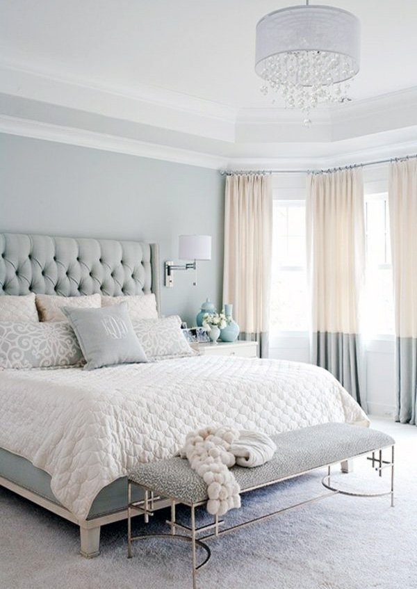 bright pastel bedroom