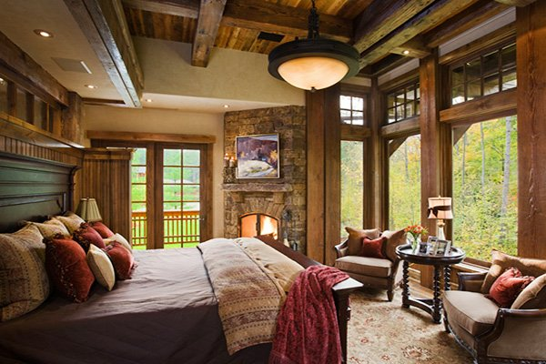 bright rustic bedroom