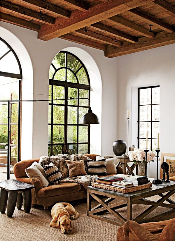 bright rustic decor