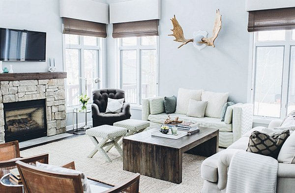 bright rustic living room design