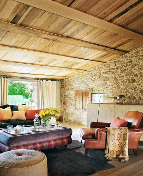 charming Exposed stone walls