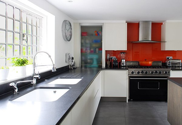 charming red kitchen design concept