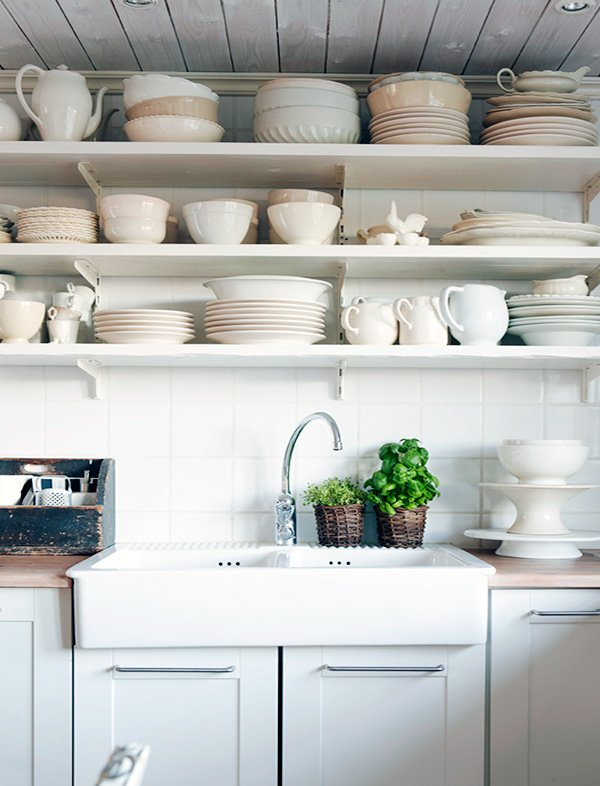 chic Open Kitchen Shelving Ideas