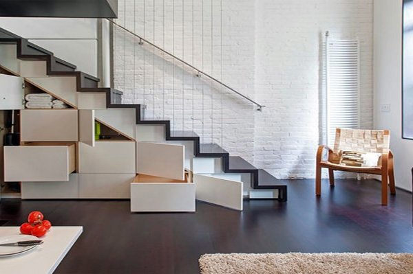 clever ideas for under stairs space