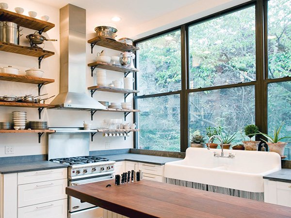 creative kitchen shelves