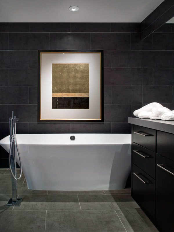 DarkColored Bathroom Walls - Dark colored bathrooms