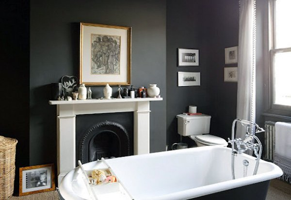 dark stylish bathroom