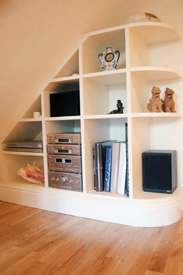 decor ideas for under stairs space
