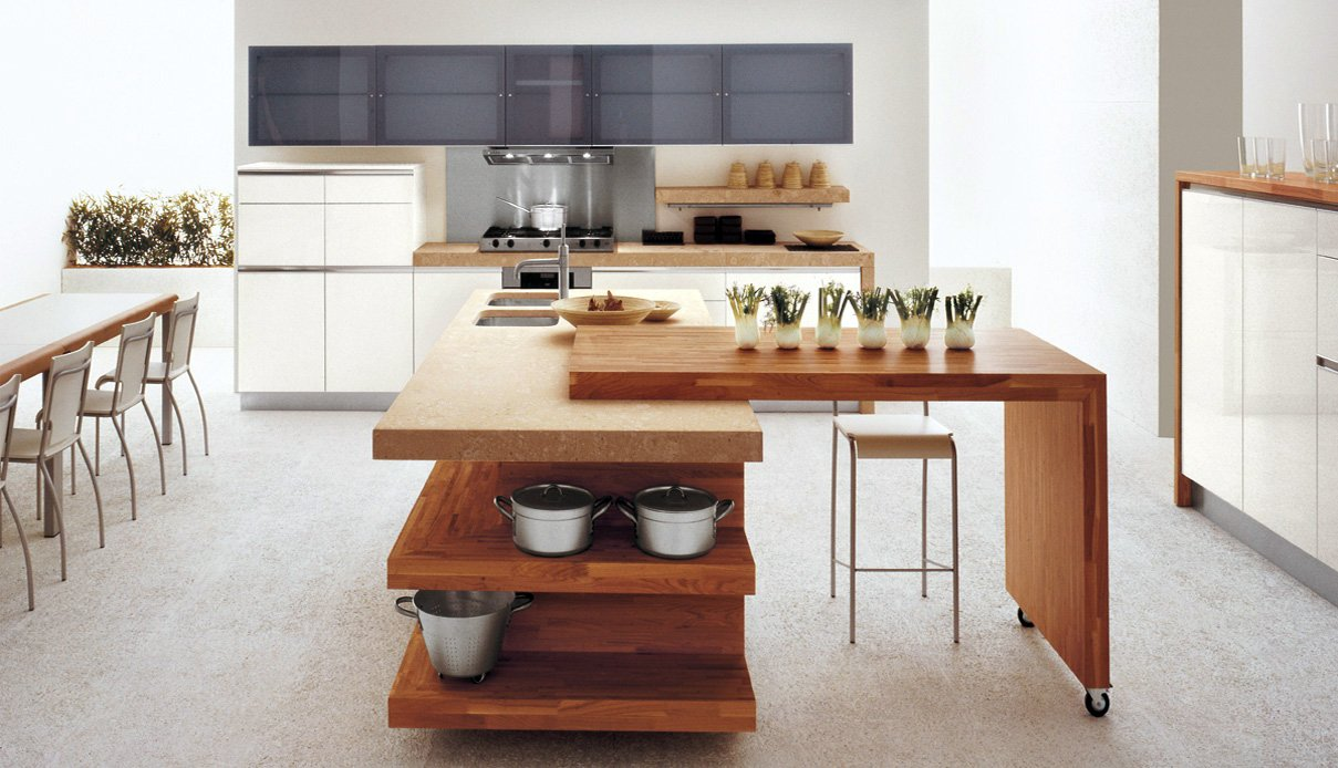minimalist wooden kitchen