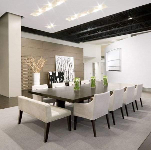 modern dining room design with Rectangular Dining Table