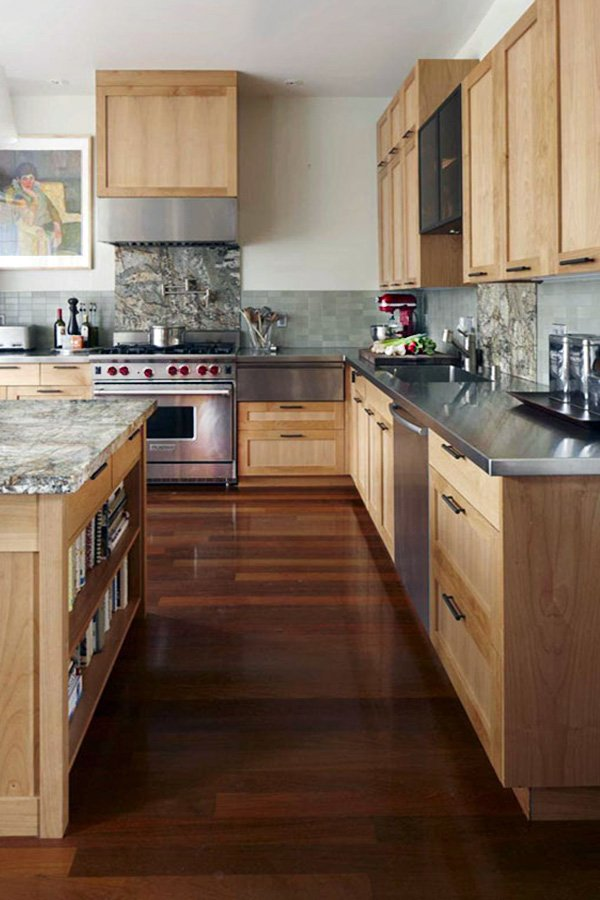 modern wooden kitchen design ideas