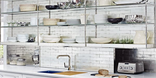 Charmant Open Kitchen Metal Shelving Ideas
