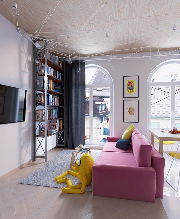pop art living room design