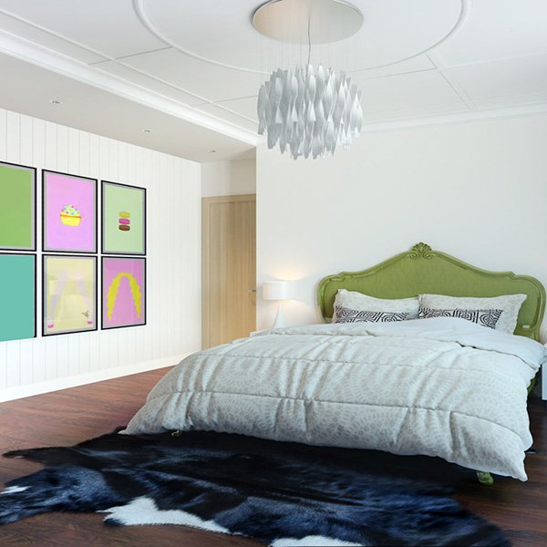 pop art style bedroom decor