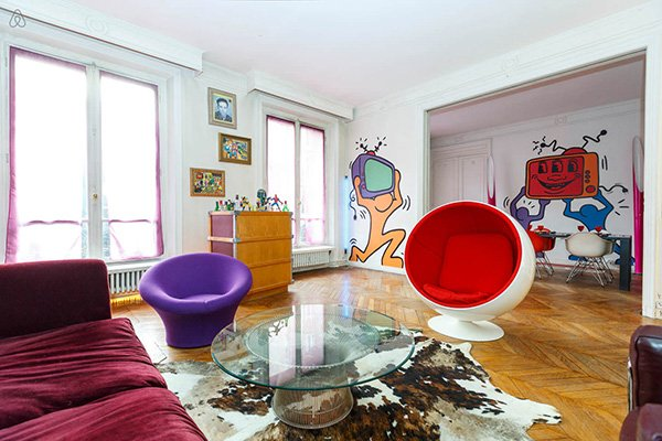 pop art style living room decor