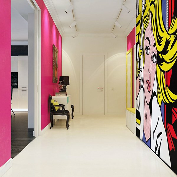 pop art wall design ideas