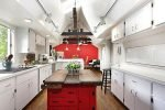 red white kitchen design