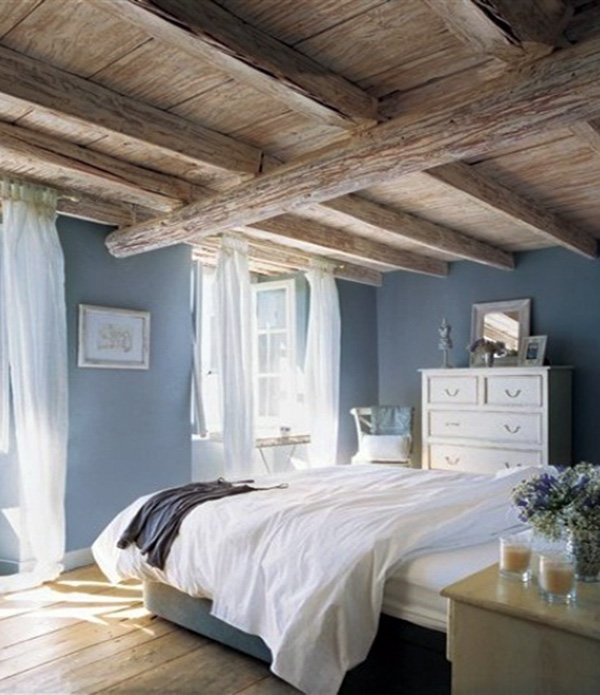 rustic bright bedroom