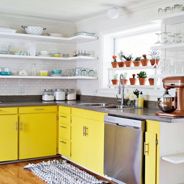 shelf ideas for small kitchen