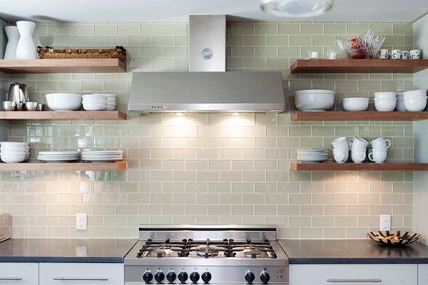 shelving ideas for open kitchens