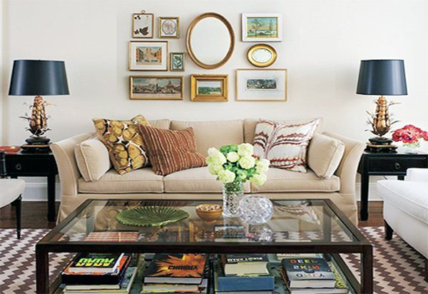 small living room wall decor