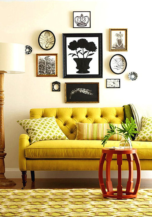 stylish Mustard Yellow Living Room
