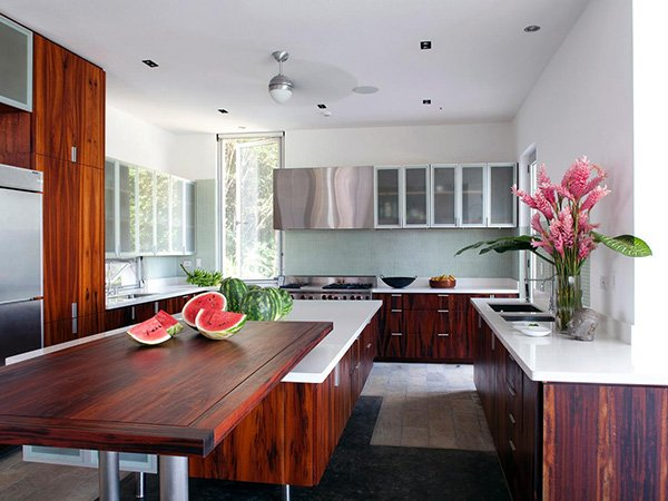 stylish kitchen design with wood concept