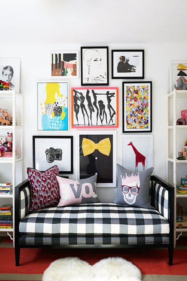 stylish wall design with pop art style