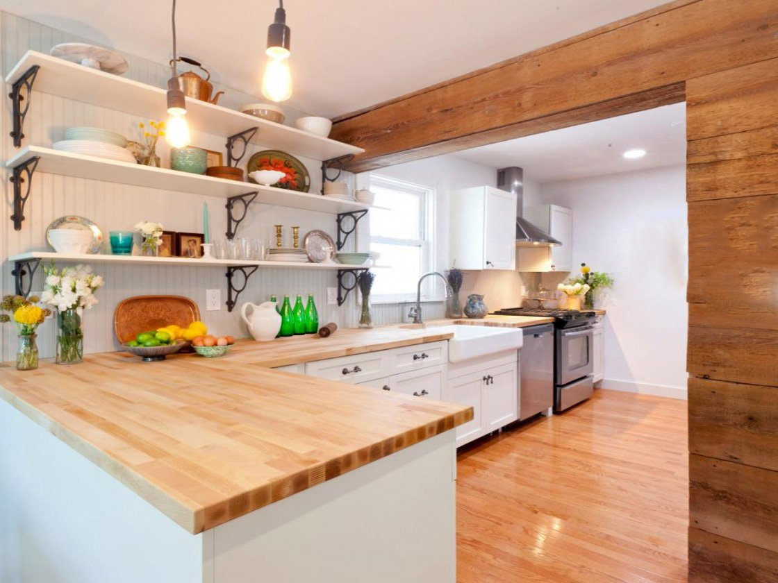 stylish wooden kitchen design