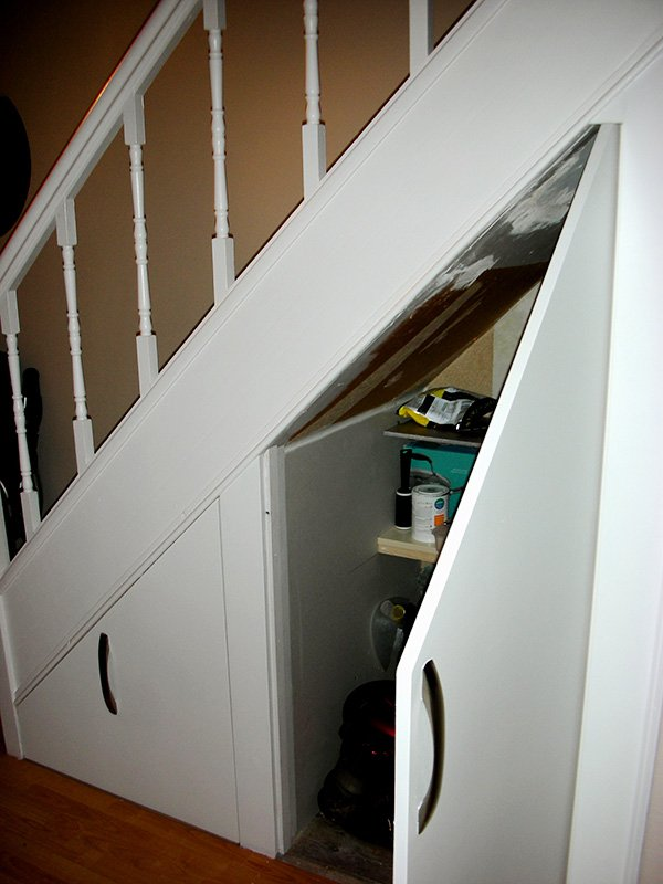 under stairs closet door ideas