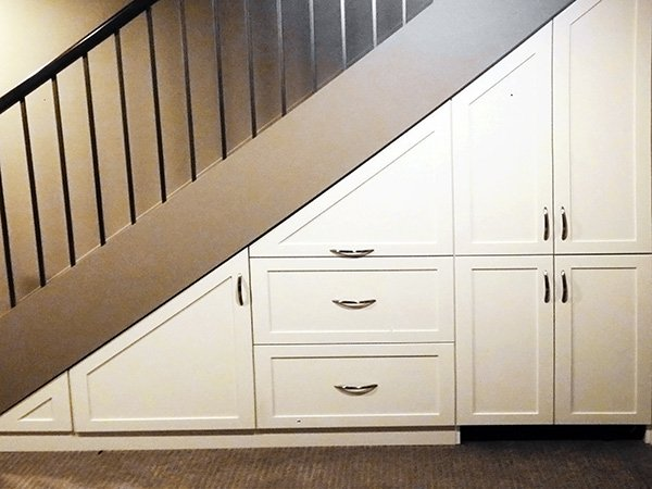 under stairs closet