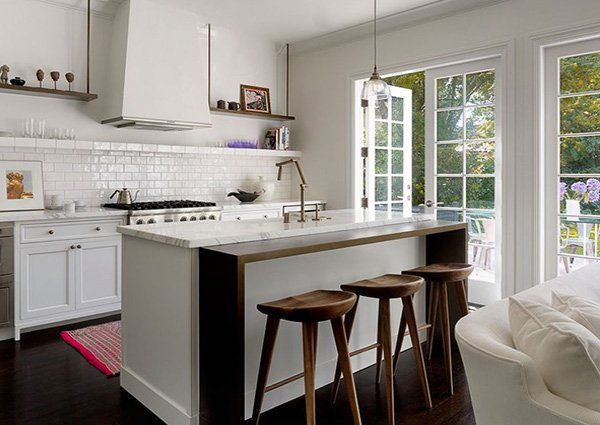 white chic kitchen design