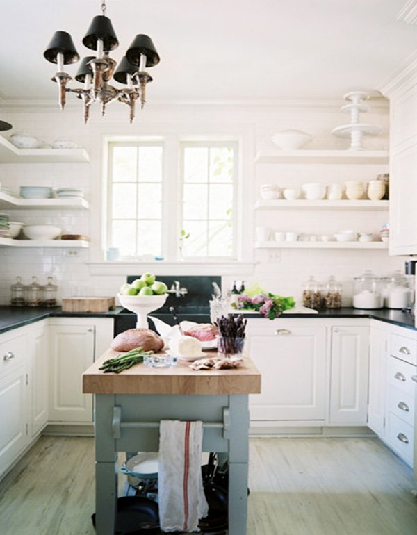 white kitchen shelving ideas