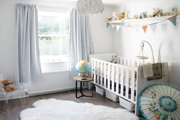 white nursery room decor