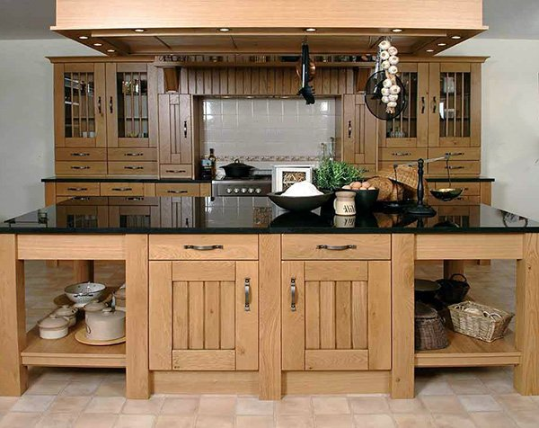 wooden kitchen concept