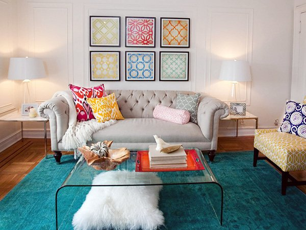 colorful rug for living room