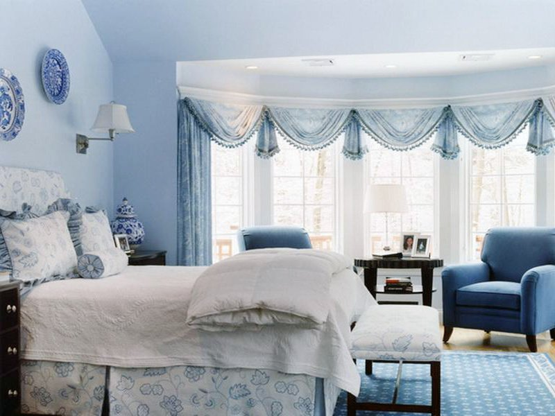 blue bedroom decoration