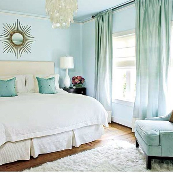 blue theme bedroom