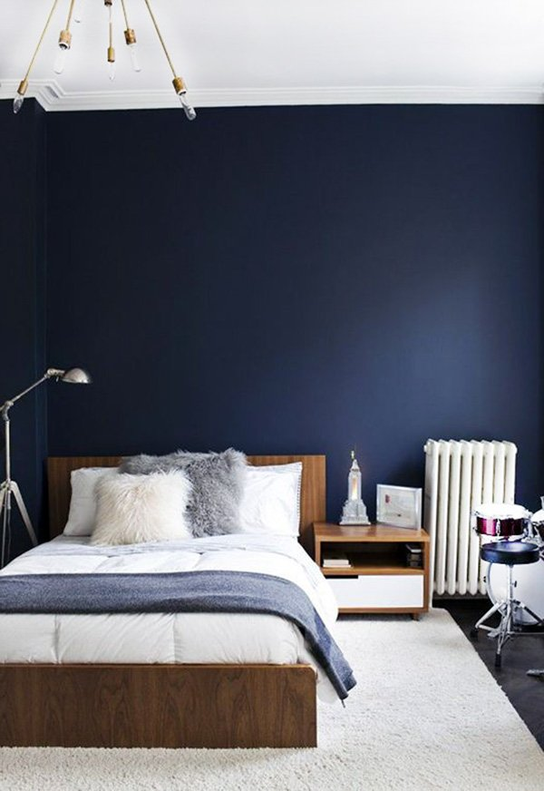 elegant blue white bedroom theme
