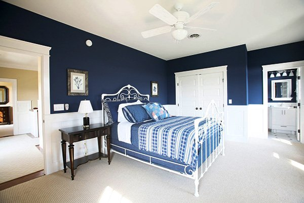 white blue bedroom ideas