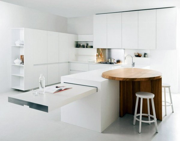 white open kitchen decor