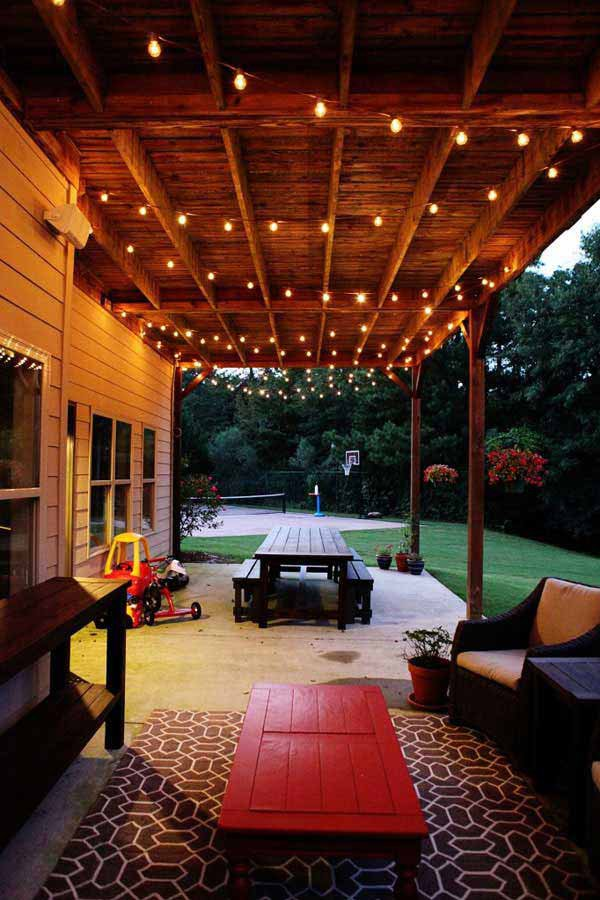 large patio design